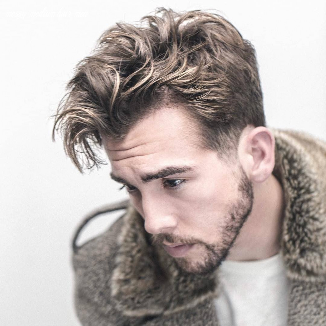 12 messy hairstyles for men > super cool styles for 12 messy medium hair men