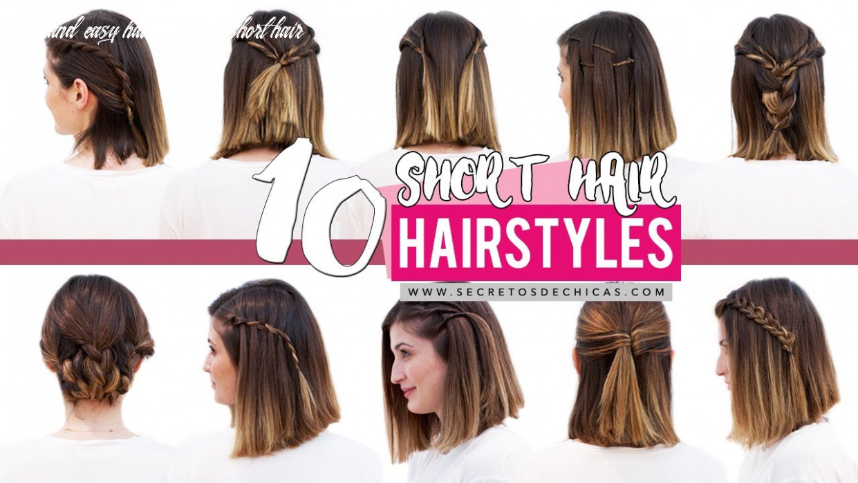 12 quick and easy hairstyles for short hair | patry jordan cute and easy hairstyles for short hair