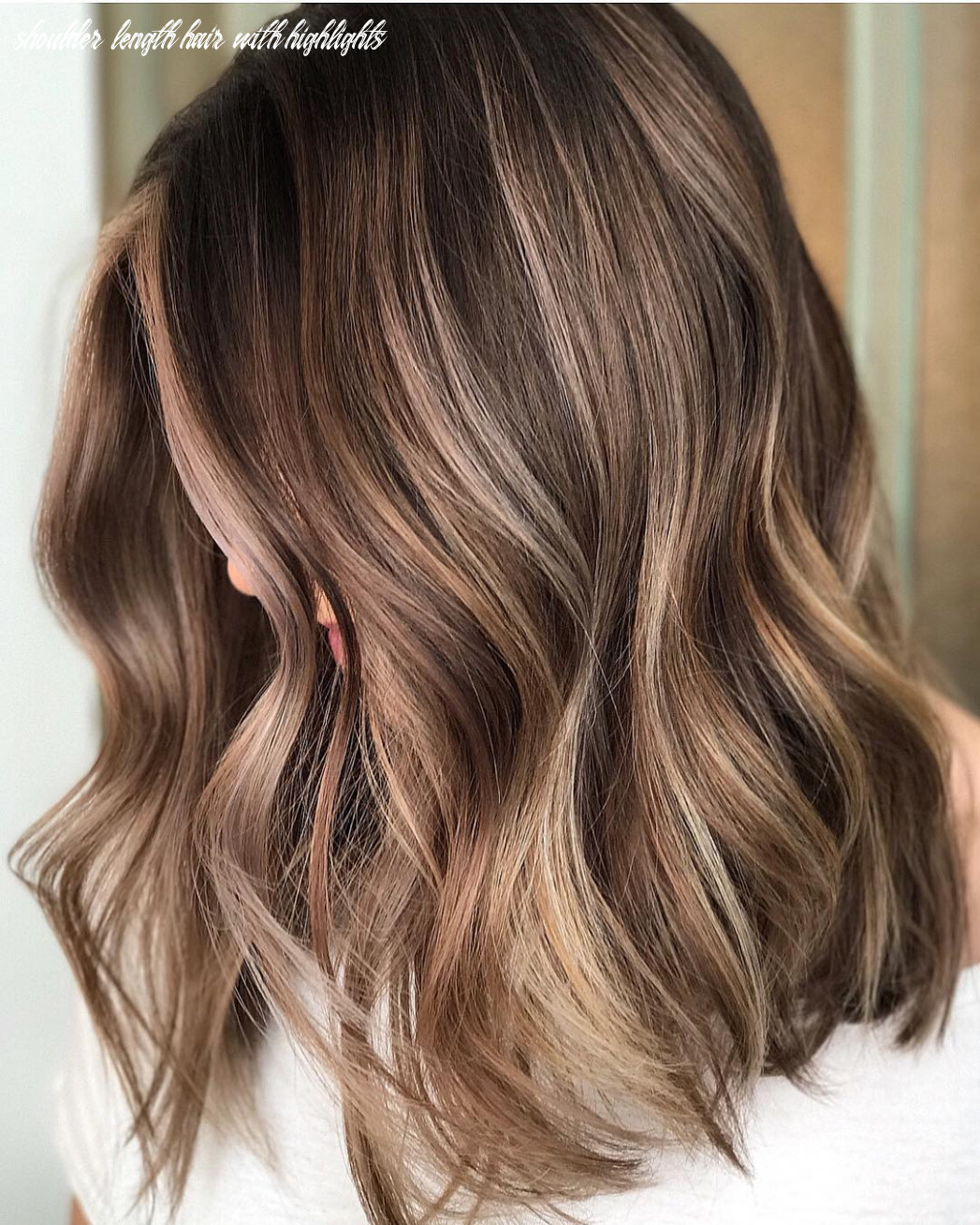12 trendy brown balayage hairstyles for medium length hair 12 shoulder length hair with highlights