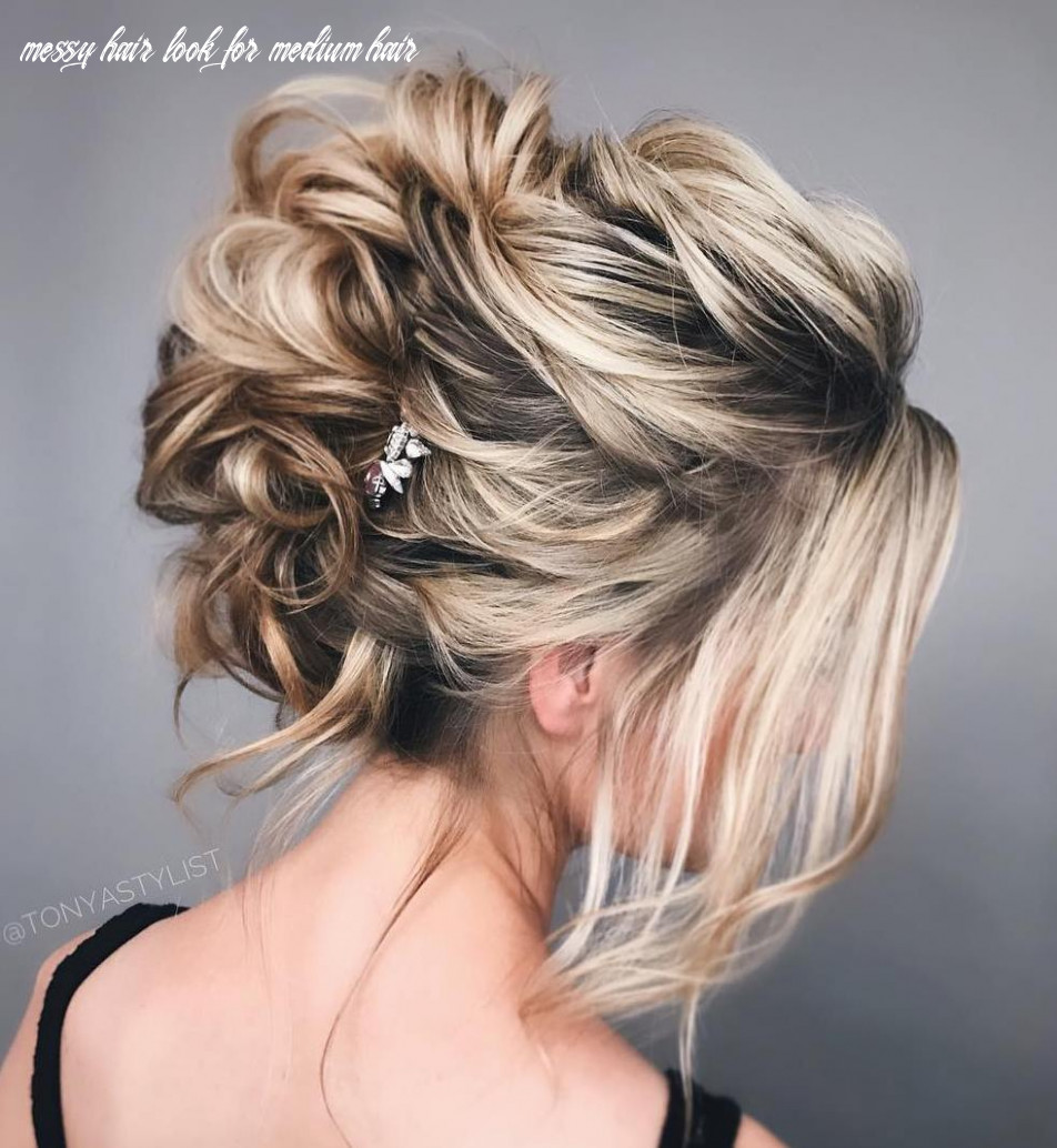 12 wonderful updos for medium hair to inspire new looks hair adviser messy hair look for medium hair