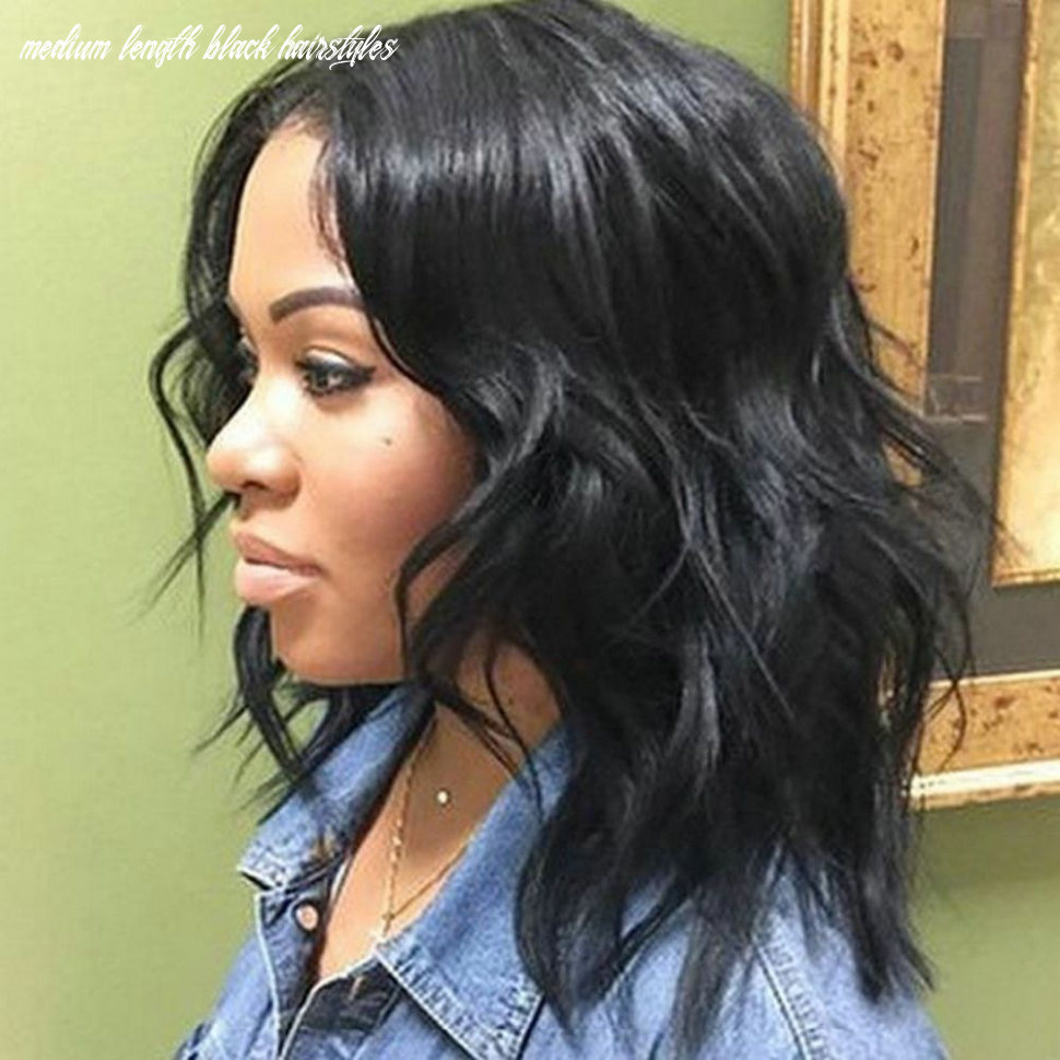 8 albums of shoulder length hairstyles for black women | medium