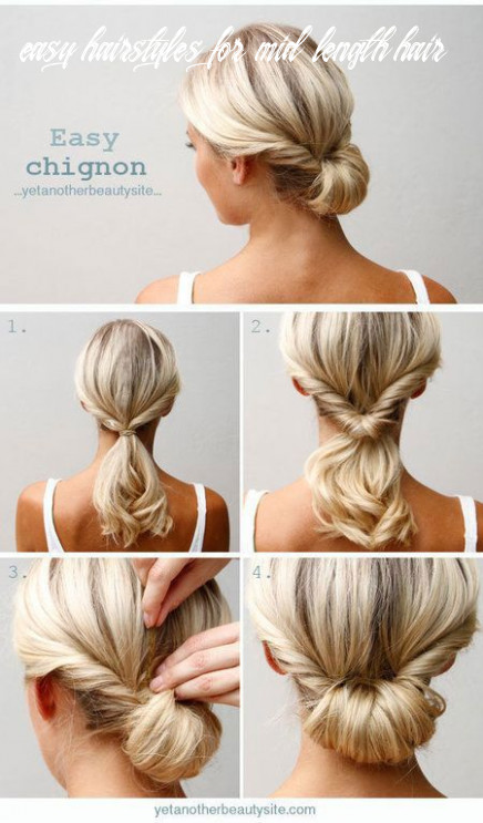 8 cute, easy hairstyle tutorials for medium length hair | gurl
