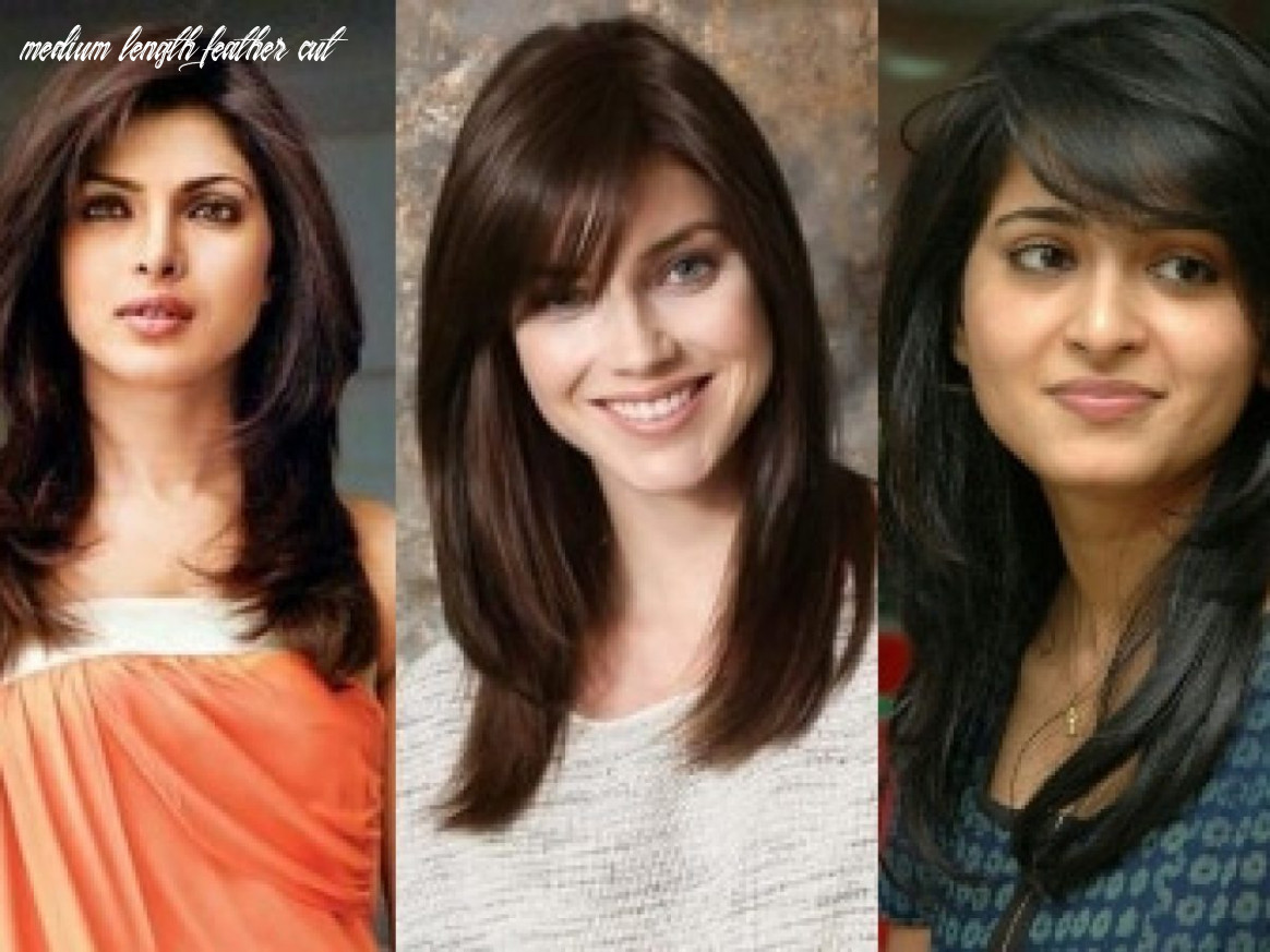 8 different feather cut styles which enhance your look medium length feather cut
