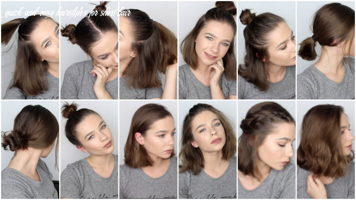 8 EASY HAIRSTYLES FOR SHORT HAIR ♡