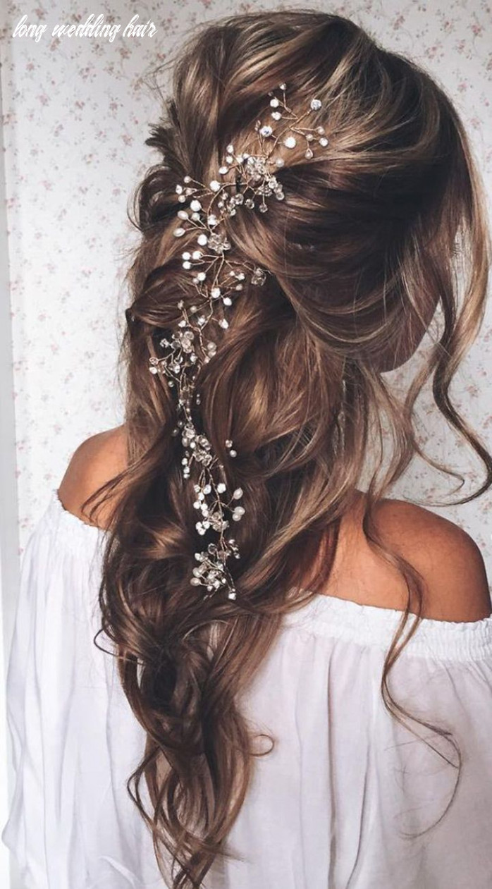 8 exquisite hair adornments for the bride   long bridal hair