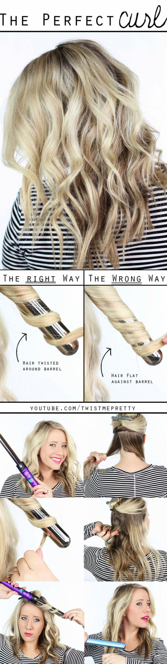 8 hair curling wand tutorials | curling hair with wand, super easy