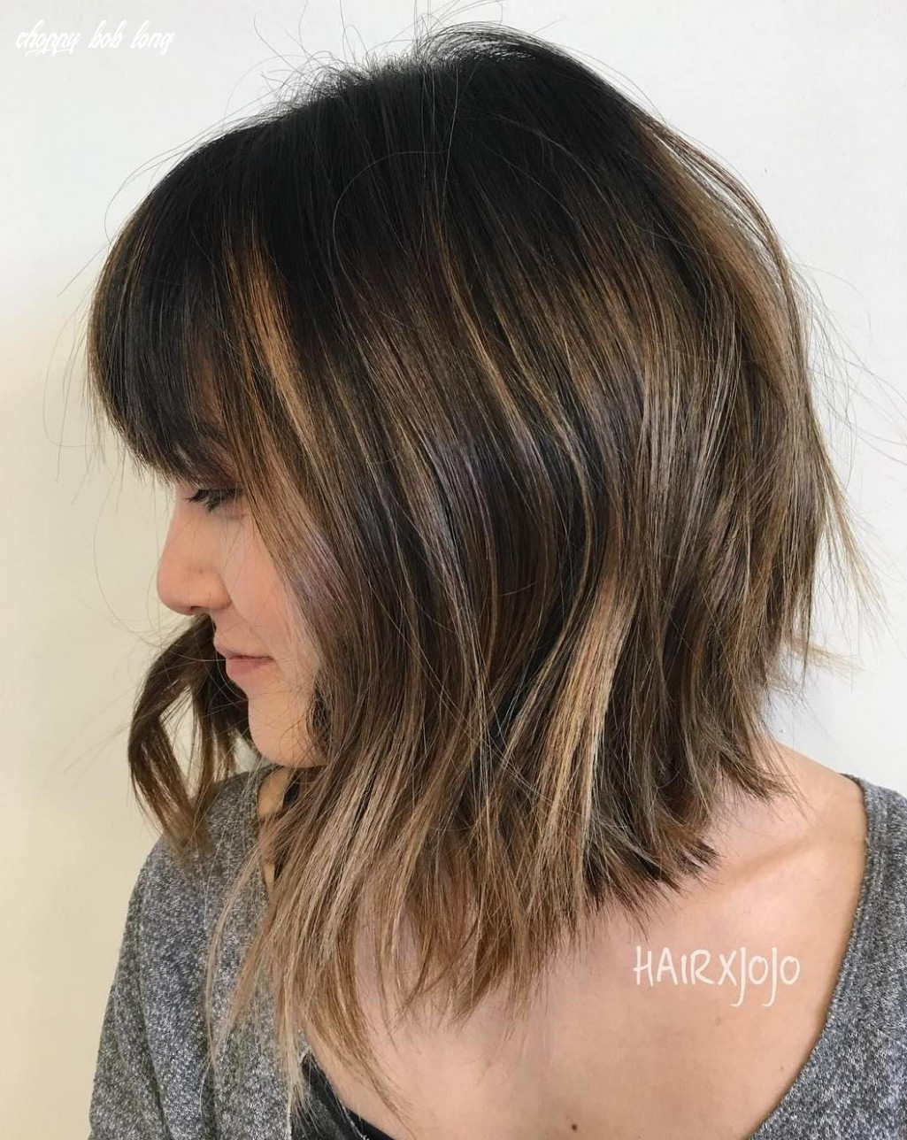 8 long choppy bob hairstyles for brunettes and blondes   choppy