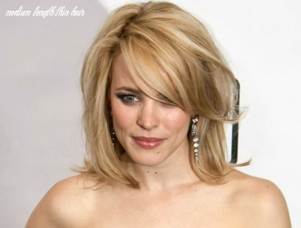 8 Most Dazzling Medium Length Hairstyles for Thin Hair - Haircuts ...