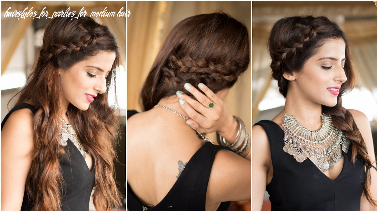 8 party hairstyles how to : cute & easy braid hairstyles for medium to long hair hairstyles for parties for medium hair