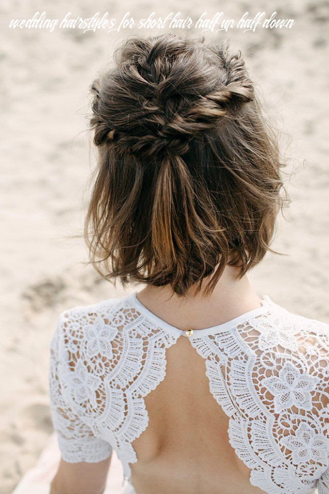8 perfect half up half down wedding hairstyles | short wedding