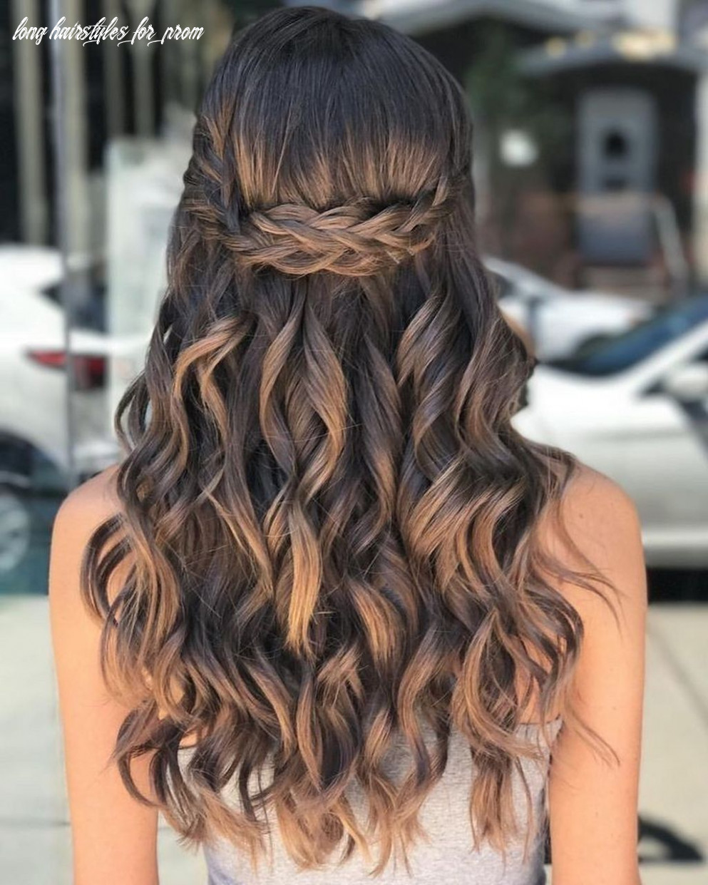 8 pretty prom hairstyle ideas for curly long hair | easy