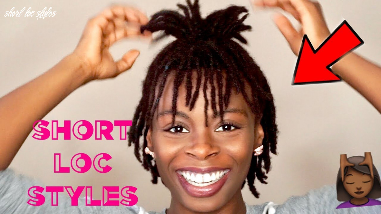 8 short easy loc styles 👍🏾 | cute hairstyles for short dreads ✨ | #darrencetv short loc styles