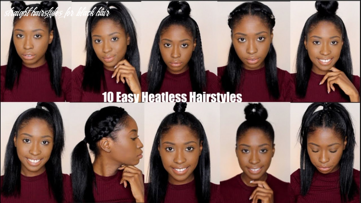 8 Simple Quick and Easy Heatless Hairstyles For Straight Natural Hair