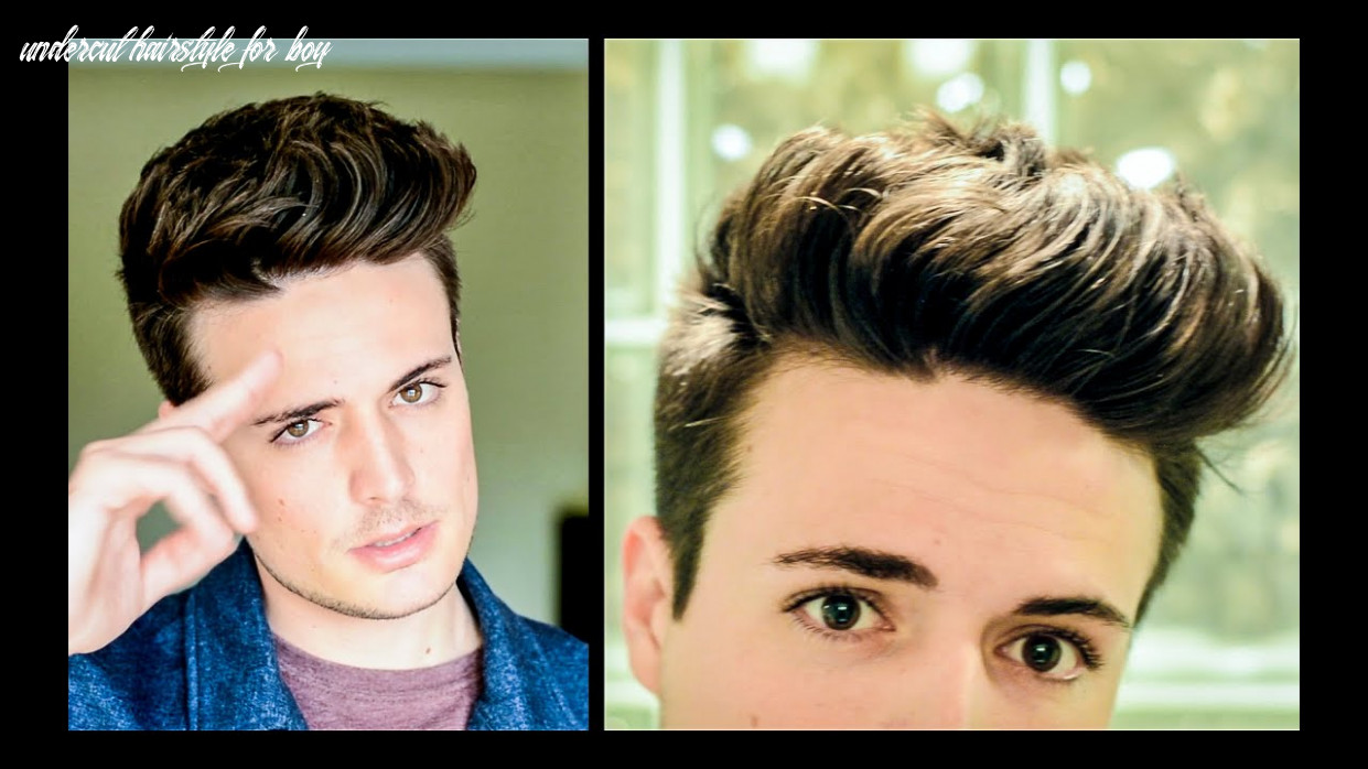 8 ways to style a undercut | mens hairstyle tutorial undercut hairstyle for boy