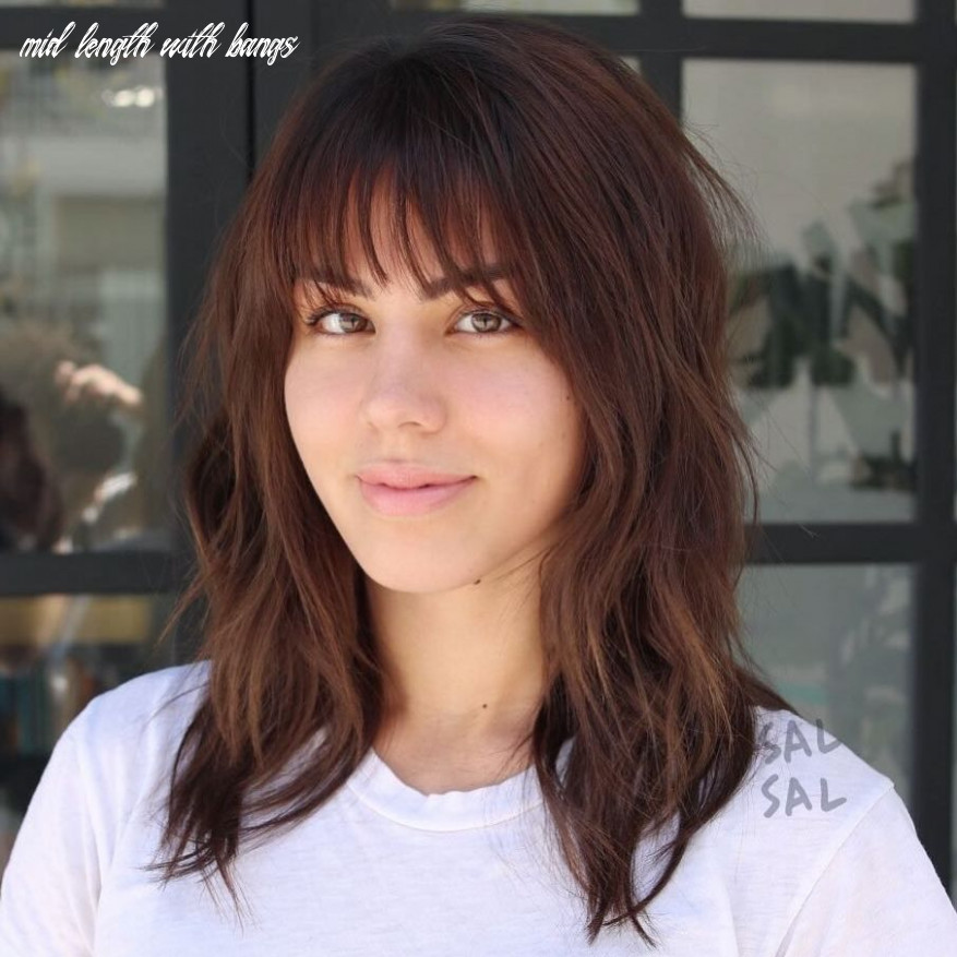 8 wispy bangs to completely revamp any hairstyle | mid length