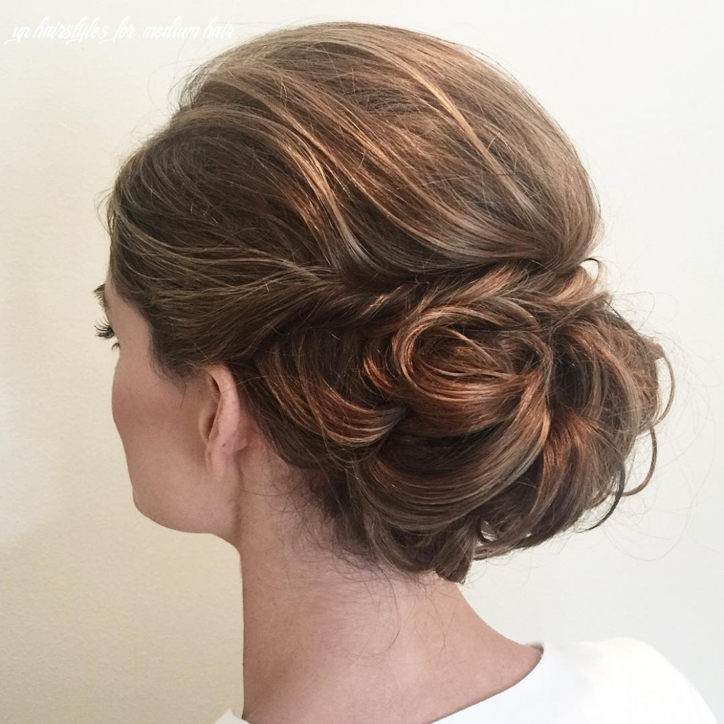 8 wonderful updos for medium hair to inspire new looks hair adviser up hairstyles for medium hair