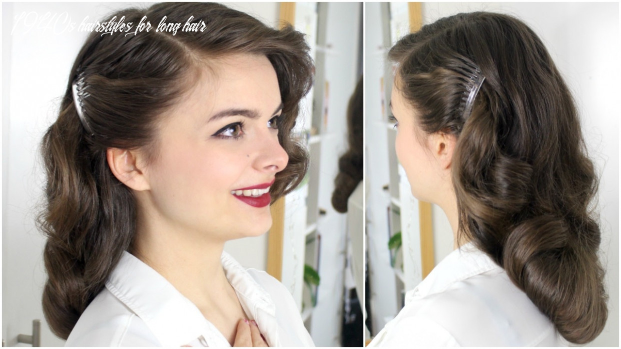 8s brush out on long hair | tutorial 1940s hairstyles for long hair