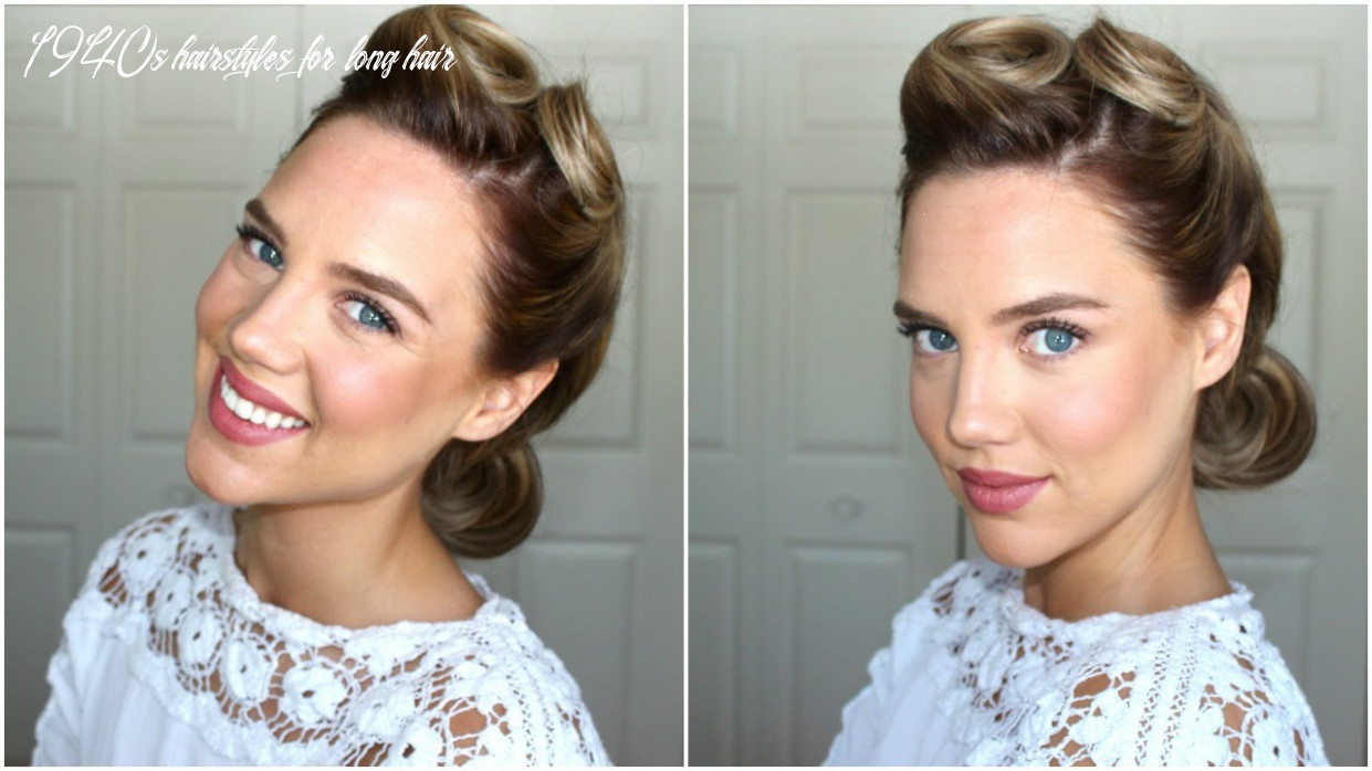 8s hairstyle || victory rolls 1940s hairstyles for long hair