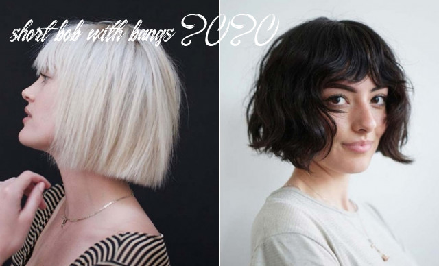 9 best short bob haircut ideas to copy in 9 | stayglam short bob with bangs 2020