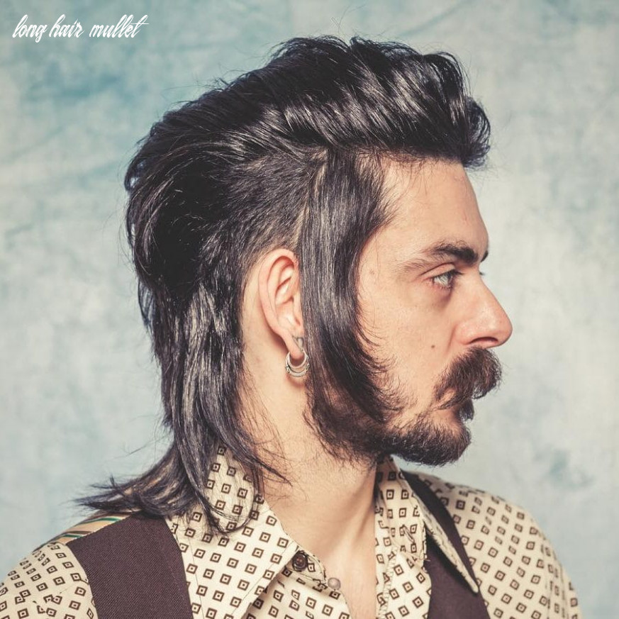 9 crazy mullets for men (9 styles) long hair mullet