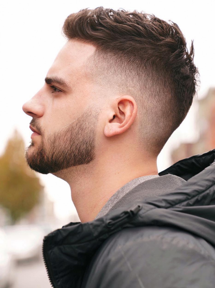 9 crew cut examples: a great choice for modern men messy crew cut