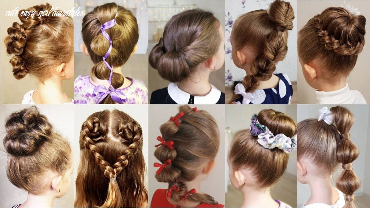 9 cute 9 minute hairstyles for busy morning! quick & easy hairstyles for school! cute easy girl hairstyles