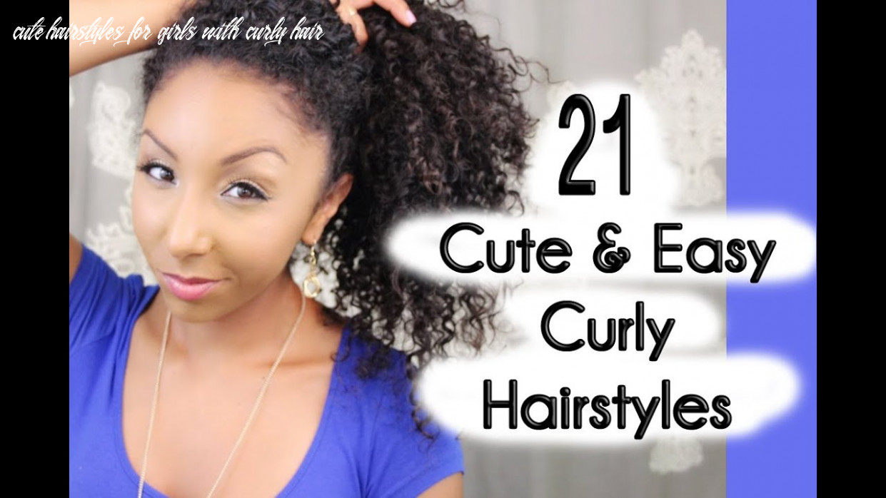 9 cute and easy curly hairstyles! | biancareneetoday cute hairstyles for girls with curly hair