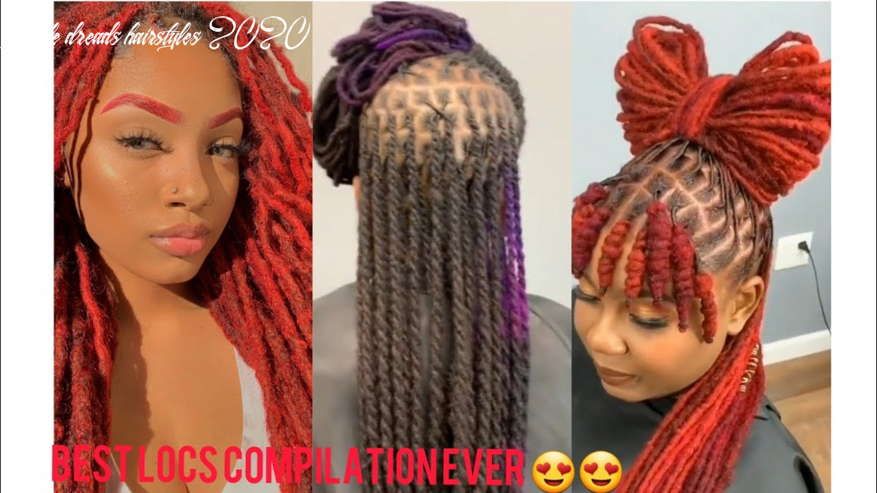 9 locs compilation||9 locs styles in 9 minutes female dreads hairstyles 2020
