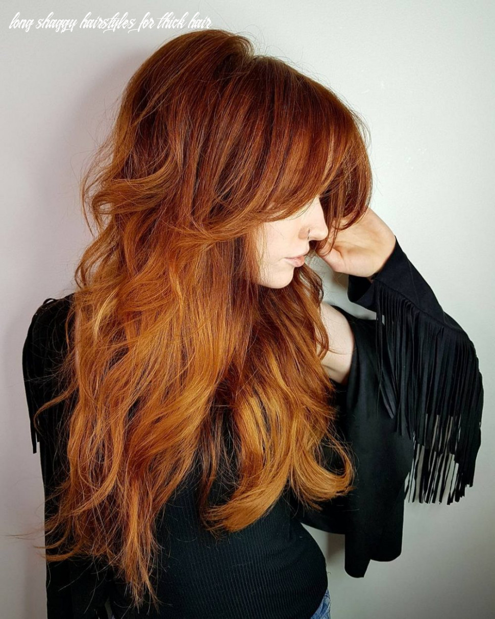 9 long shag haircuts trending right now long shaggy hairstyles for thick hair
