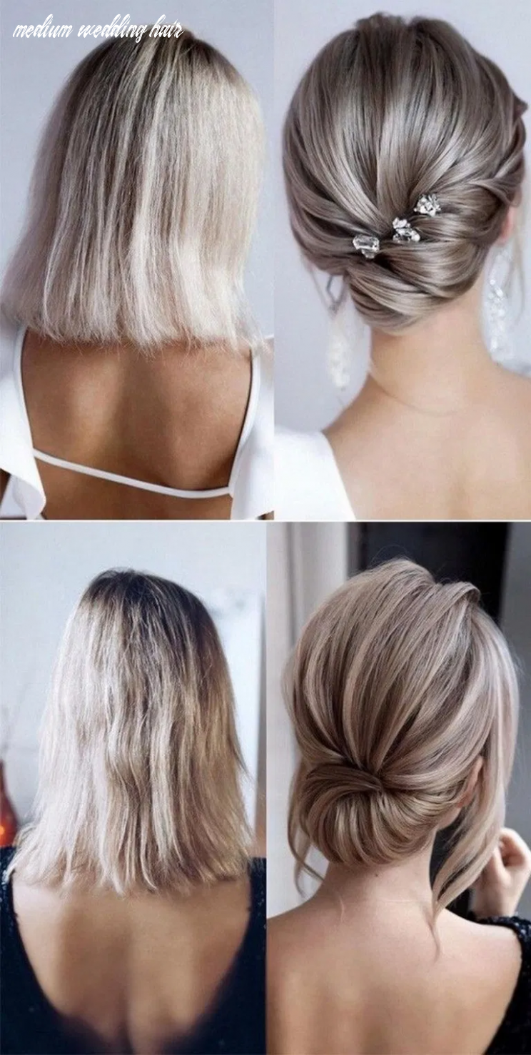9 medium length wedding hairstyles for 9 brides 9 (with