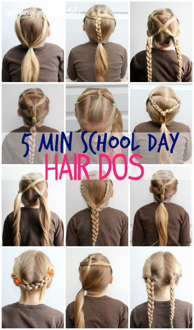 9 minute hairstyles for school | easy hair dos, girl hair dos