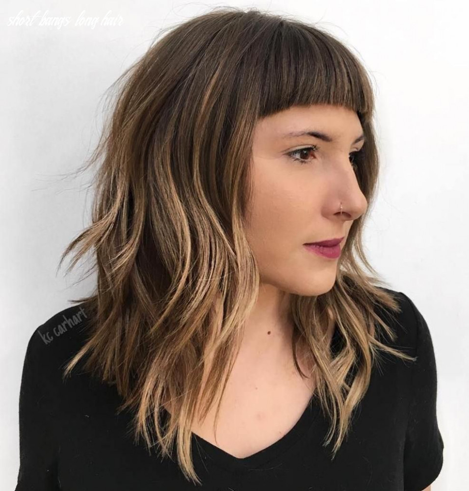 9 Modern Ways to Style a Long Bob with Bangs | Long bob with ...