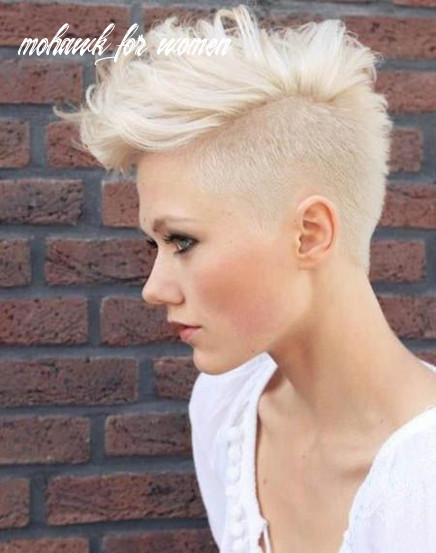 9 most gorgeous mohawk hairstyles of nowadays | platinum blonde
