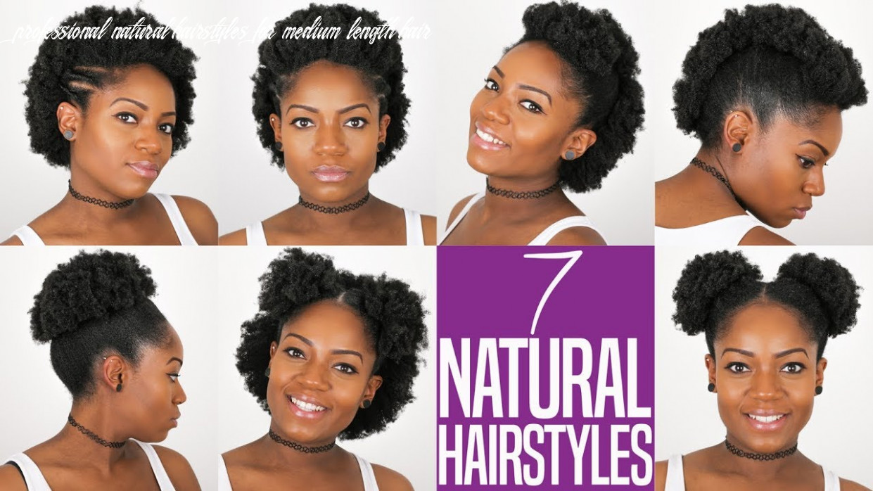 9 natural hairstyles (for short to medium length natural hair) (9b/9c hair) professional natural hairstyles for medium length hair
