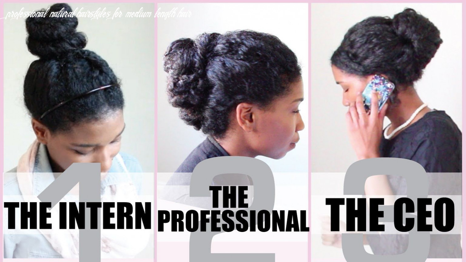 9 no heat corporate protective styles for medium length natural