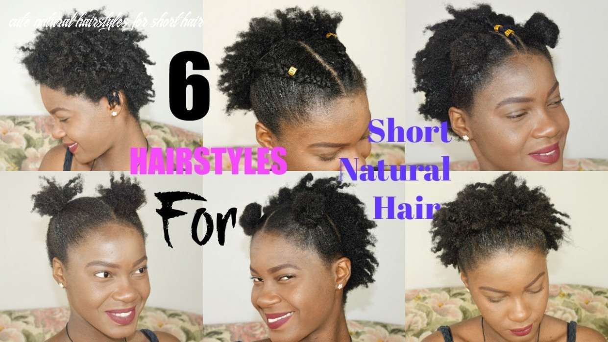 9 quick & easy everyday natural hairstyles for short / medium / twa natural hair || thegennybeauty cute natural hairstyles for short hair