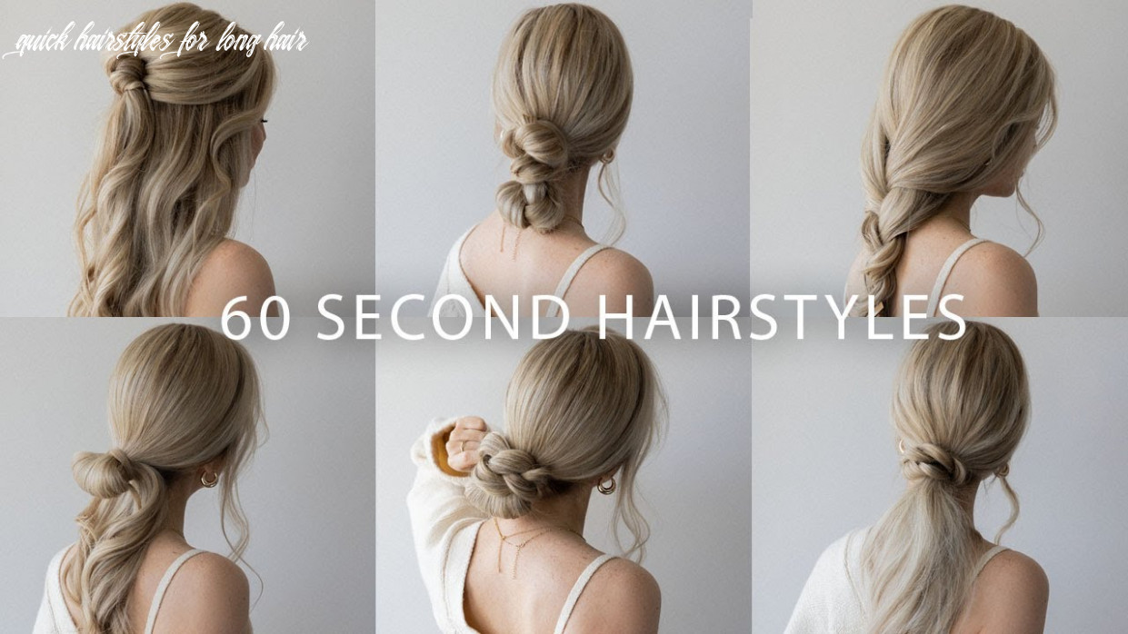 9 quick & easy hairstyles | cute long hair hairstyles quick hairstyles for long hair