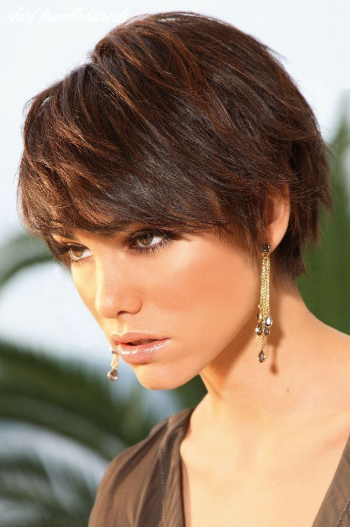 9 stylish hairstyles for brunettes short brunette haircuts