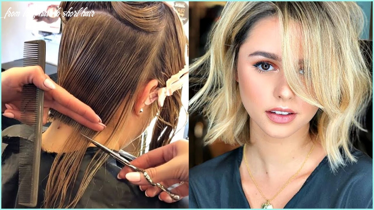 9 trendy before and after transformations from long hair to short hair ♥️ short haircuts ideas from long hair to short hair