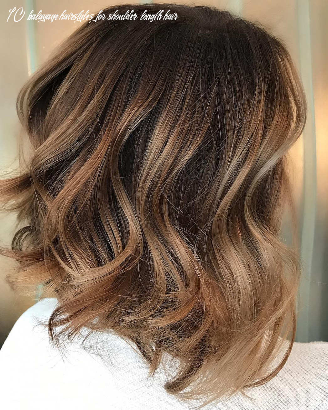 9 Trendy Brown Balayage Hairstyles for Medium-Length Hair 9
