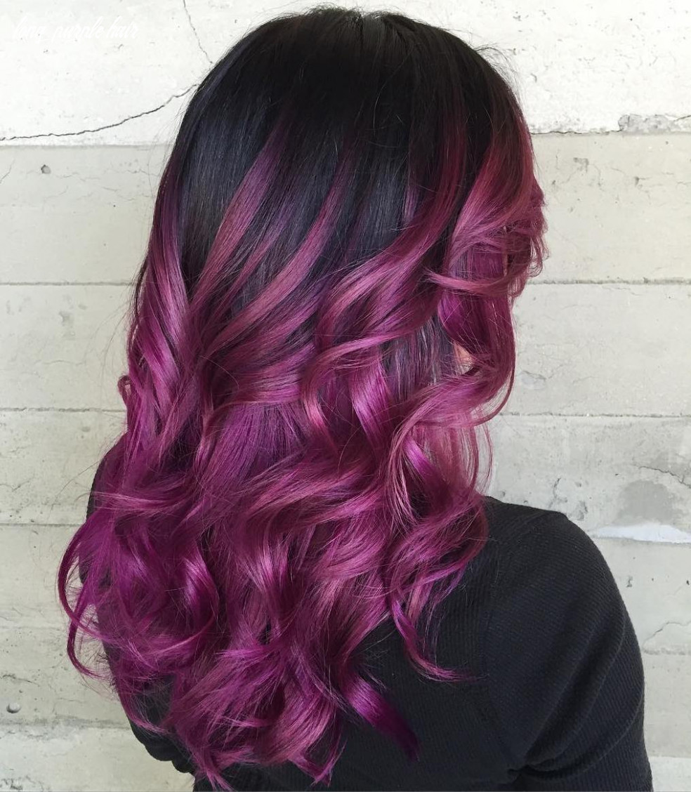 9 Versatile Ideas of Purple Highlights for Blonde, Brown and Red Hair