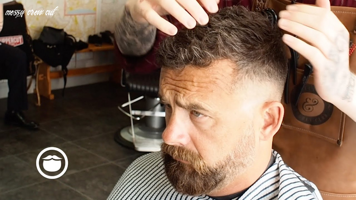 A classic hairstyle: the messy crew cut messy crew cut