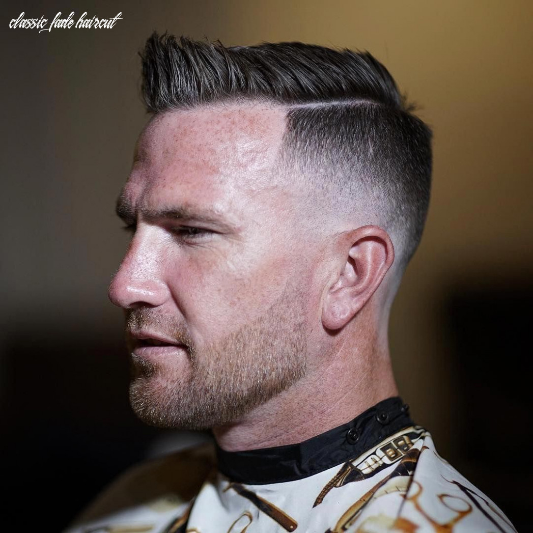 A classic side part fade haircut that looks great and is easy to