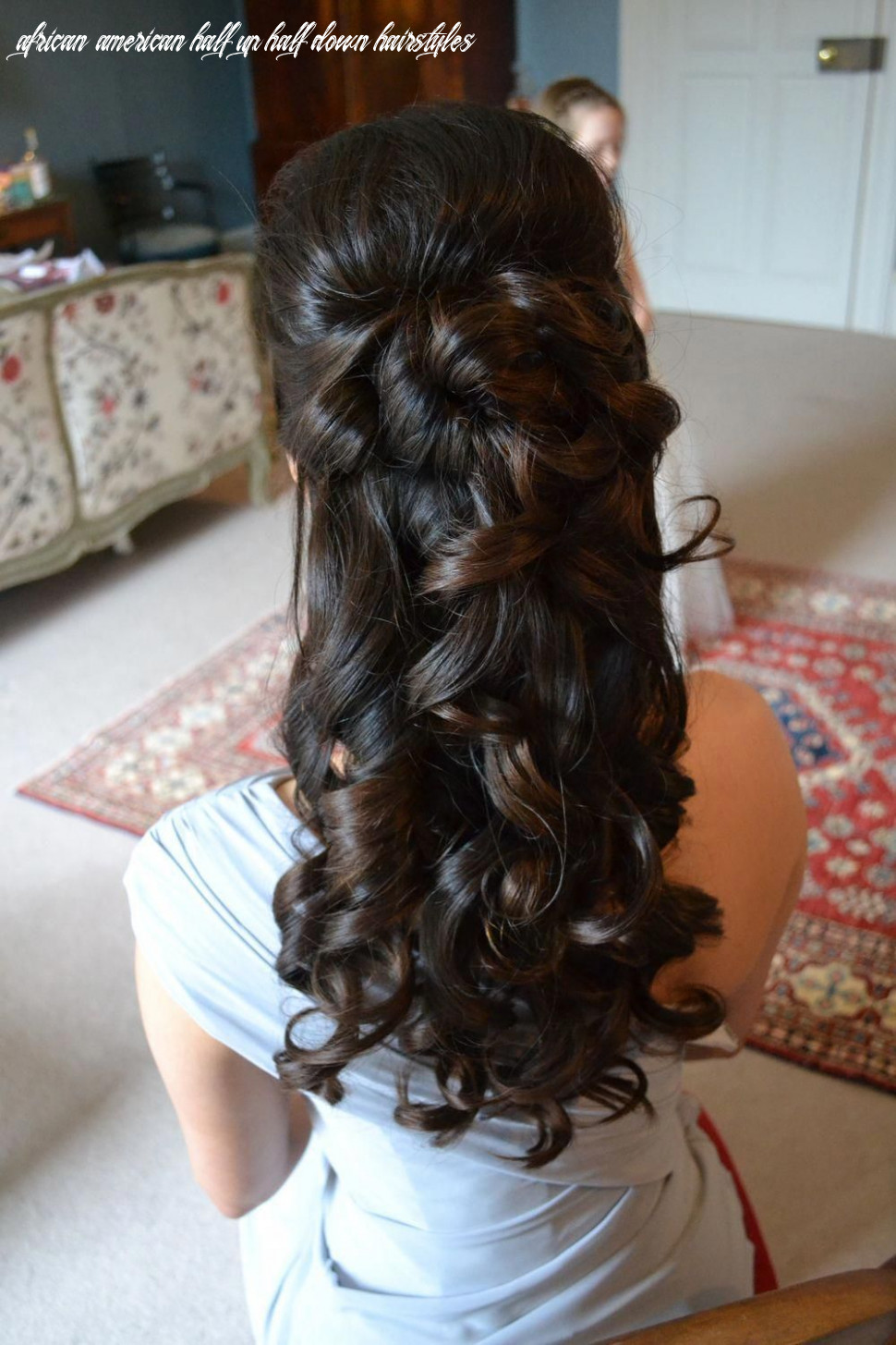 African american wedding hairstyles half up and half down in 12