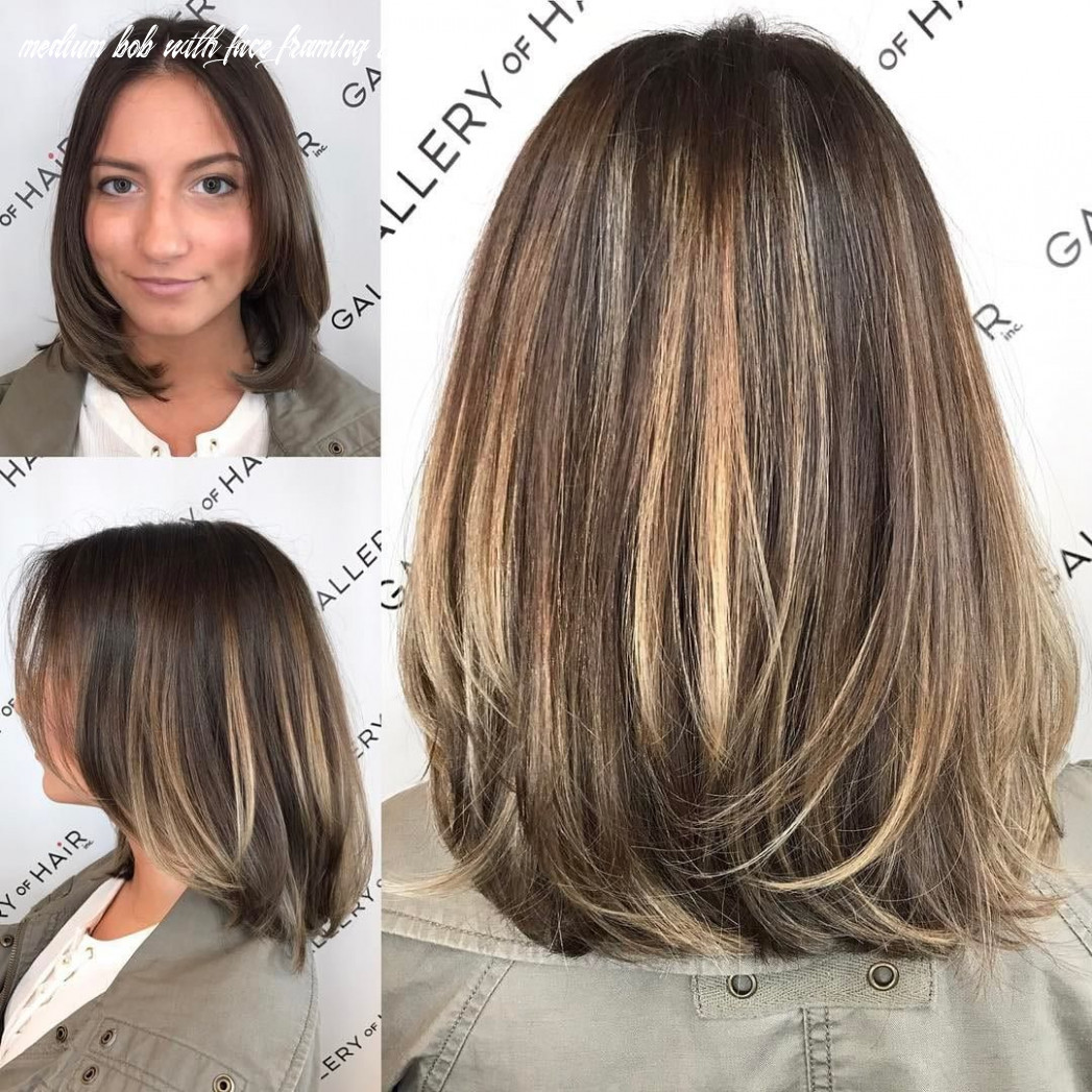 All sizes | brunette layered blowout bob with face framing layers