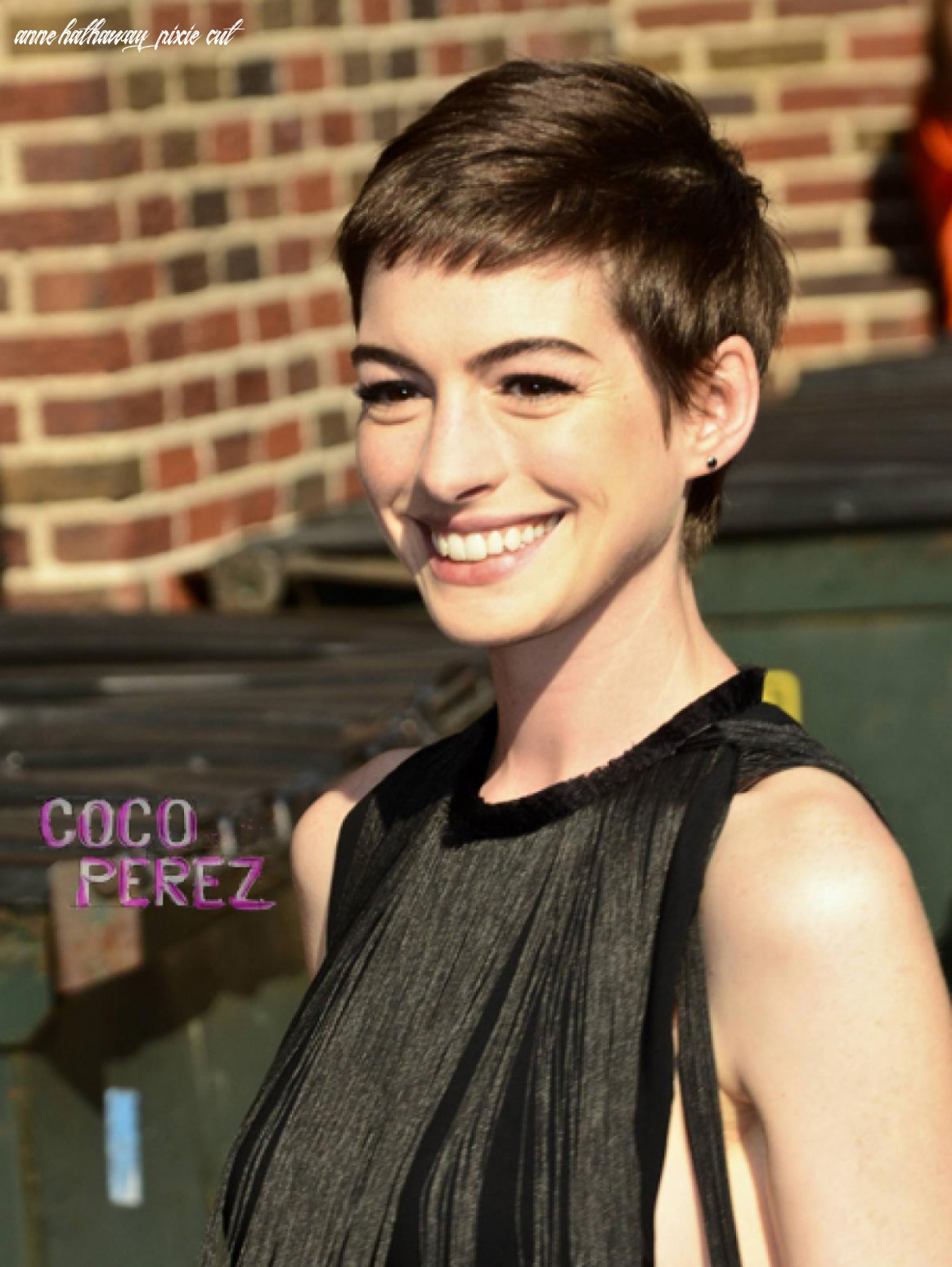 Anne Hathaway's Pixie Cut Made Her Miserables - Perez Hilton