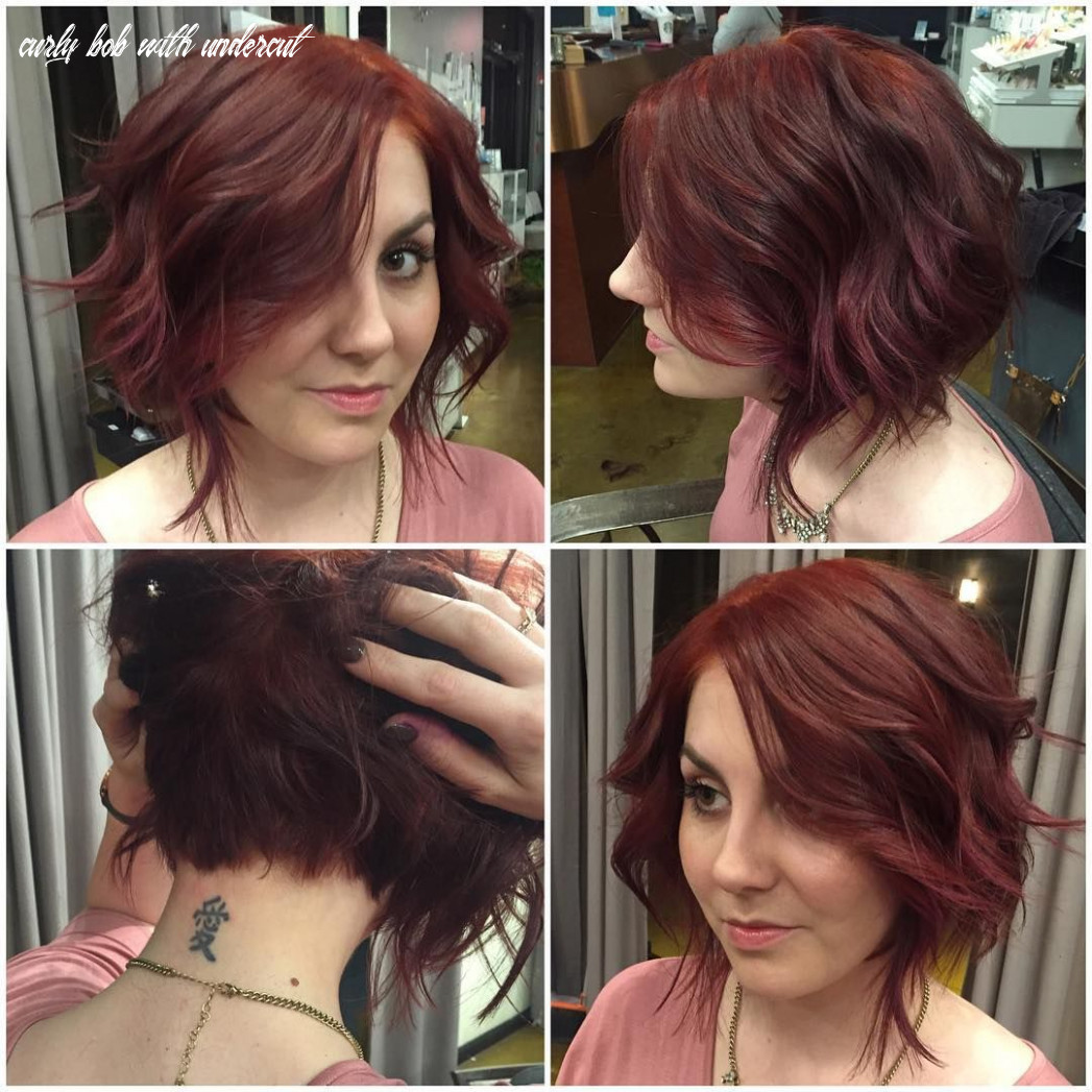 appears a textured bob on the outside, but with a hidden pixie ...