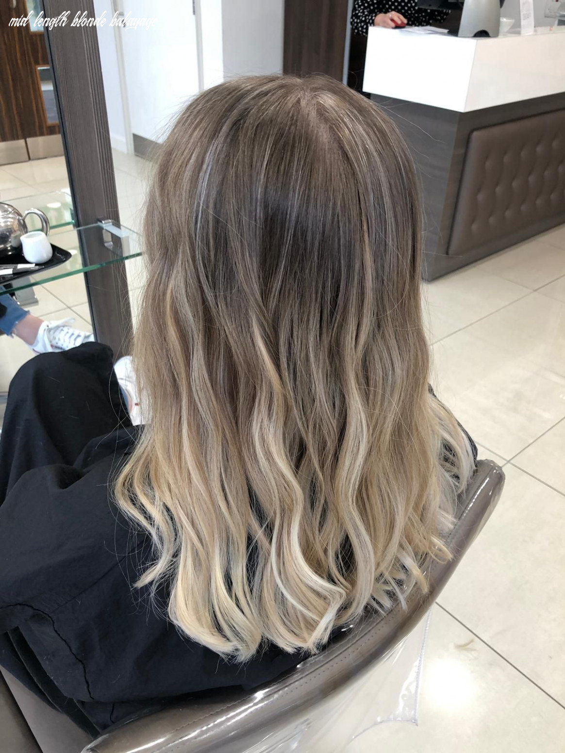 Ash blonde balayage mid length hair (with images) | blonde