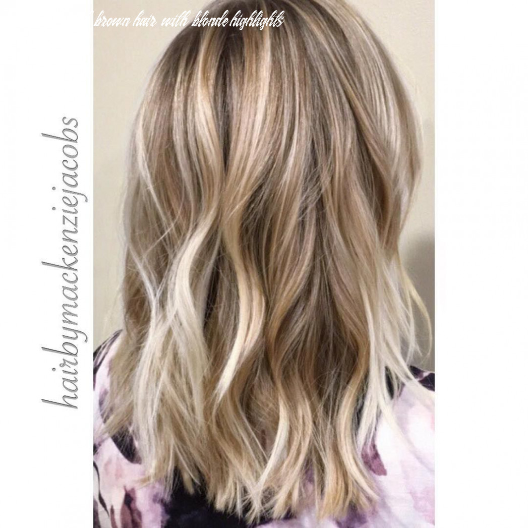 Ash blonde highlights/lived in color on light brown hair, mid