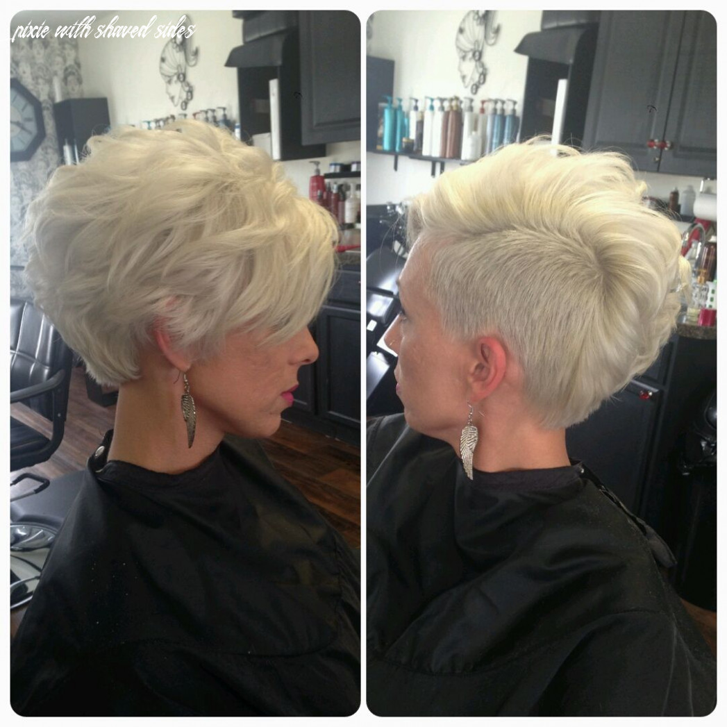 Asymmetrical Pixie, Shaved Side, Mohawk, Platinum Blonde | Hair ...